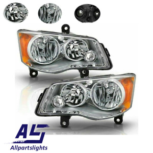As Headlights For 2011 2018 Dodge Grand Caravan 2008 2016 Chrysler Town Country