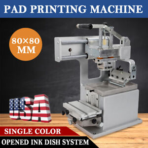 Single color Manual Pad Printing Machine Pad Printer Opened Ink Dish 80mmx80mm