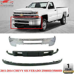 Front Bumper Chrome Valance Extension For 11 14 Chevy Silverado 2500hd 3500hd