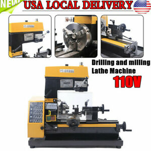 Ct125 3 in 1 Micro Multi function Drilling And Milling Lathe Machine Us Stock