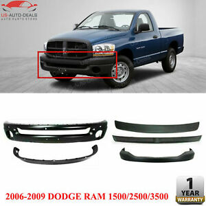 Front Steel Bumper Air Dam Step Pad Filler For 2006 09 Dodge Ram 1500 2500 350
