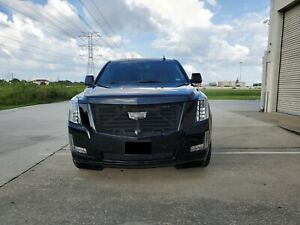 E g 2015 2020 Cadillac Escalade Black Ice Mesh Grille Upper Lower W emblem