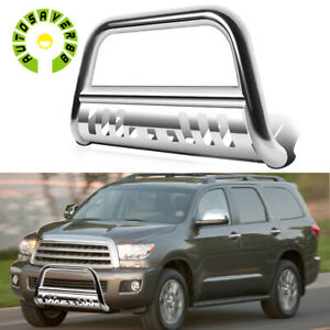 3 Stainless Steel Bull Bar Bumper Guard For 07 21 Toyota Tundra 08 21 Sequoia