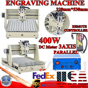 3 Axis Cnc 3040t Router Engraver Milling Cutting Machine W Controller 400w 110v