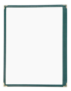 Pack Of 25 High Quality Restaurant Menu Covers 8 5 x11 Single Page Green 1gr