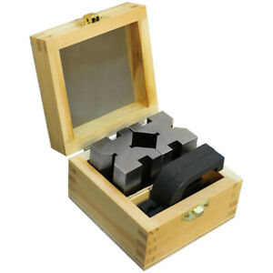90 Degree V block And Clamp Set Hardened Steel 1 5 8 X 1 3 4 X 2 3 4