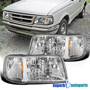 For 1993 1997 Ford Ranger 2in1 Style Headlights Corner Signal Lamps Pair