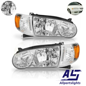 As Headlights Fit For 2001 2002 Toyota Corolla Truck Chrome Left right Us