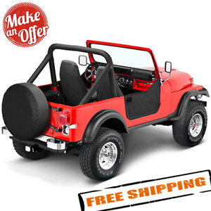 Bestop 53038 01 Half Doors W Rotary Latch For 80 95 Jeep Cj7 Cj8 Wrangler Yj
