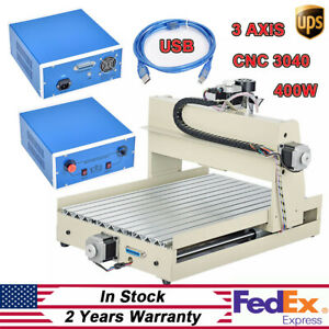 Usb 3 Axis 3040 Cnc Router Engraver Wood Drilling Milling Engraving Machine 400w