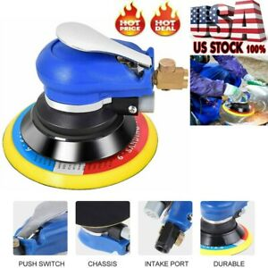 Air Palm Random Orbital Sander 10000 Rpm Hand Sanding Pneumatic 6 Round New