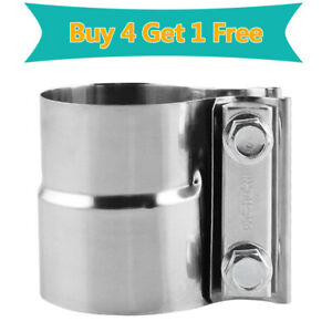 Buy 4 Get 1 Free 2 5 Stainless Steel Lap Joint Exhaust Seal Band Clamps Widen