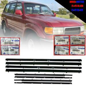 Door Belt Weatherstrip Inner Outer Front Rear For Toyota Land Cruiser Fzj80 Hj80