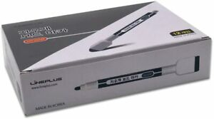 Lineplus Black Pack Of 12 with Fine Tip Magnetic Dry Erase Markers With Eraser
