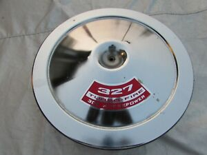 1966 Corvette Original 327 Air Cleaner Base And Lid 66 Only