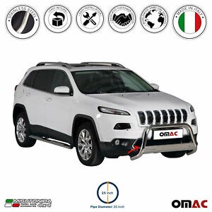 For Jeep Cherokee 2014 2021 Bull Bar Front Bumper Grill Guard Stainless Steel