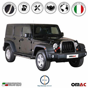 For Jeep Wrangler 2007 2017 Bull Bar Front Bumper Grill Guard Stainless Steel