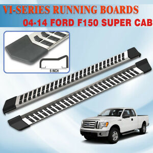 6 For 04 14 Ford F 150 Super Cab Running Board Side Step Nerf Bar Stainless Vi