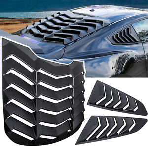 Rear side Window Louver Windshield Sun Shade Cover Gt For Ford Mustang 2015 2020