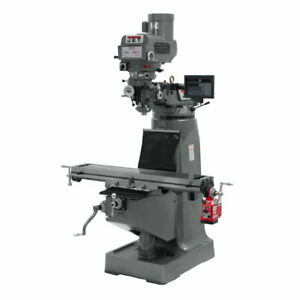 Jet 692087 Jtm 4vs 1 Variable Speed R8 Milling Machine With Newall Dp700 Dro
