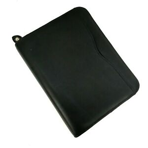 Day timer Genuine Leather Black Binder 7 Rings Nice Quality Organizer Notebook