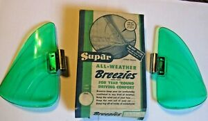 Green Vintage Original 1950 S Nos Accessory Supar Vent Window Breezies W Box
