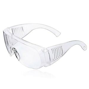 2 X Safety Goggles Over Glasses Lab Work Eye Protective Eyewear Clean Lens