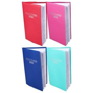 2021 Weekly Planner Notebook Agenda Pocket Size Appointment Calendar 3x6