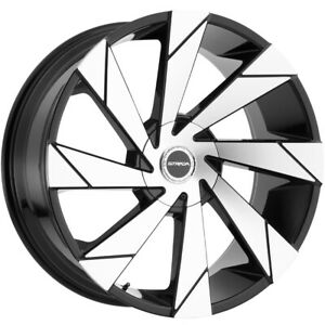 4 strada Moto 26x10 5x5 5x5 5 18mm Black machined Wheels Rims 26 Inch