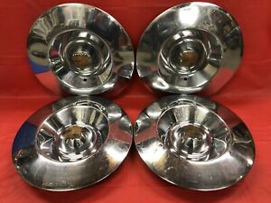 Vintage Set Of 4 1953 Cadillac 15 Hubcaps