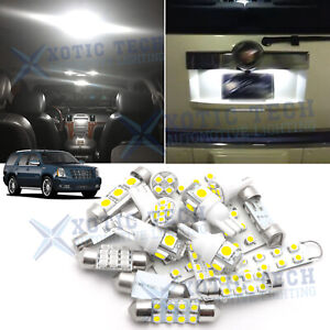 White Led Interior Map Dome Lights Package Kit For Cadillac Escalade 2007 2014