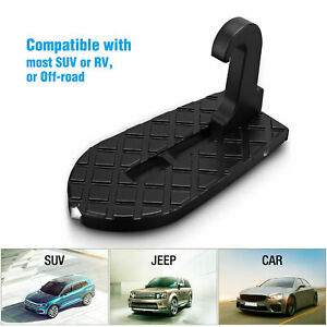 Folding Car Door Latch Hook Step Mini Foot Pedal Ladder For Jeep Truck Suv Etc