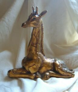 Vintage Kay Finch Freeman McFarlin GOLD GIRAFFE