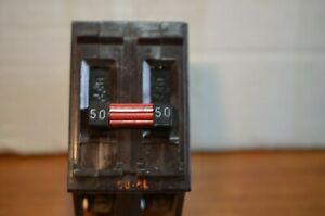 Wadsworth 50 Amp 2 Pole Circuit Breaker Metal Foot Type A 240v
