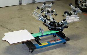 Riley Hopkins Jr 4 Color Screen Printing Press With Xy Micro Registration