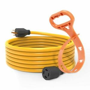 25 Ft 30 Amp L14 30 4 Prong Generator Cord 125 250v Ul Listed With Cord Hanger