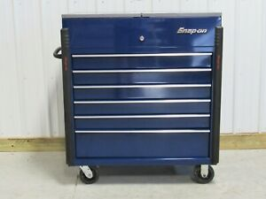 Snap On Midnight Blue Krsc430pdg1 40 Sliding Stainless Lid Tool Box Cart