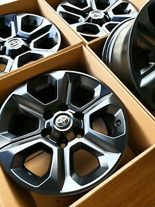 Toyota 4runner Wheels 17 Oem Factory Recondition In Satin Black Powder Coat