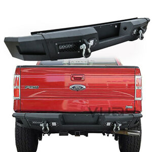 Vijay Rear Bumper With Led Light d ring For 09 14 Ford F150 excluding Raptor