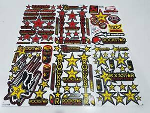 6 Rockstar Energy Racing Vinyl Stickers Motorcross Enduro Bike Auto Bmx Mtb Atv
