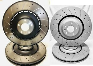Drilled Slotted F R Audi Oem Fronts Brake Rotors 400mm 356mm Audi S6 S7 S8