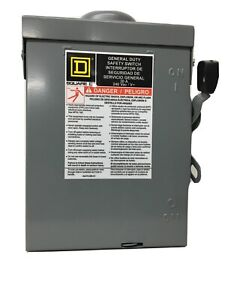 Square D 30 Amp 240 volt 2 pole Fused Outdoor General Duty Safety Switch