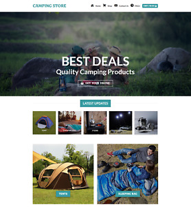 Profitable Camping Store Turnkey Dropship Website Business For Sale