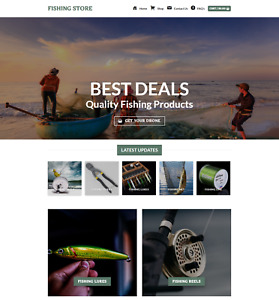Profitable Fishing Store Turnkey Dropship Website Business For Sale