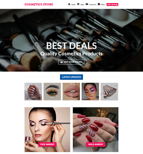 Profitable Cosmetics Store Turnkey Dropship Website Business For Sale
