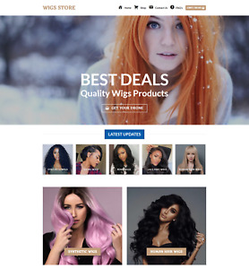 Profitable Wigs Store Turnkey Dropship Website Business For Sale