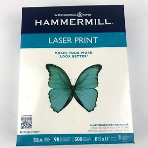 Hammermill Laser Print Paper Letter White 32lb 98 bright 500 Sheets