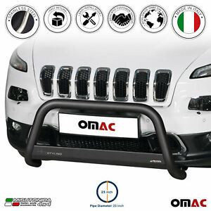 For Jeep Cherokee 2014 2021 Black S steel Bull Bar Front Bumper Grill Guard