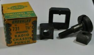 Vintage Greenlee No 731 7 8 Square Shape Radio Chassis Knock out Punch In Box