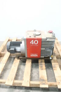 Edwards E2m40 Two Stage Vacuum Pump 2hp 208 230 460v ac